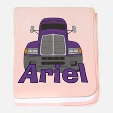 Trucker Ariel baby blanket