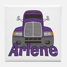 Trucker Arlene Tile Coaster