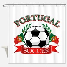 Portugal Soccer designs Shower Curtain