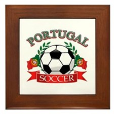 Portugal Soccer designs Framed Tile