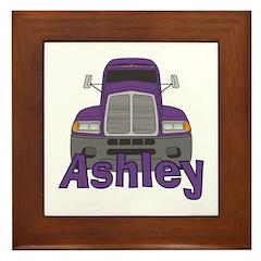 Trucker Ashley Framed Tile
