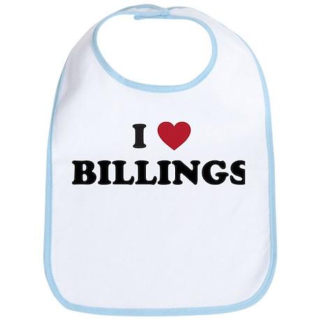 I Love Billings Bib