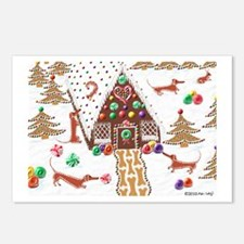 Gingerbread Dachshunds Postcards (Package of 8)