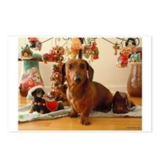 Christmas Dachshund (Ver 1) Postcards (Pack of 8)
