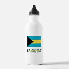 Bahamas Flag & Word Water Bottle