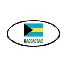 Bahamas Flag Word Patches