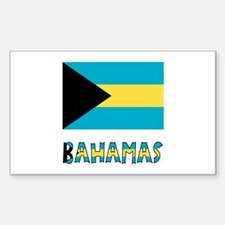 Bahamas Flag Word Decal