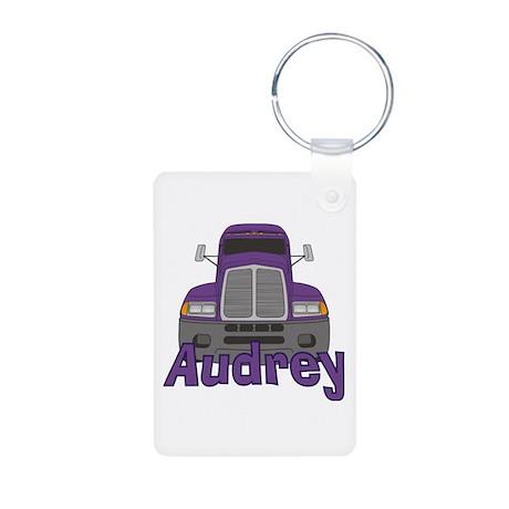 Trucker Audrey Aluminum Photo Keychain