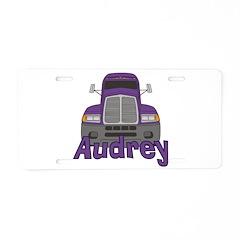Trucker Audrey Aluminum License Plate