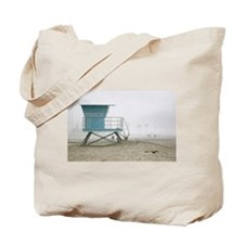 Foggy Lifeguard/Long Beach / Tote Bag