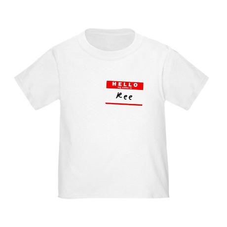 Ree, Name Tag Sticker Toddler T-Shirt