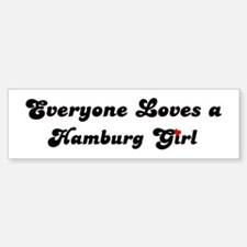 Loves Hamburg Girl Bumper Bumper Bumper Sticker