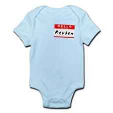 Reuben, Name Tag Sticker Infant Bodysuit