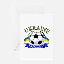 Ukraine Soccer Designs Greeting Card