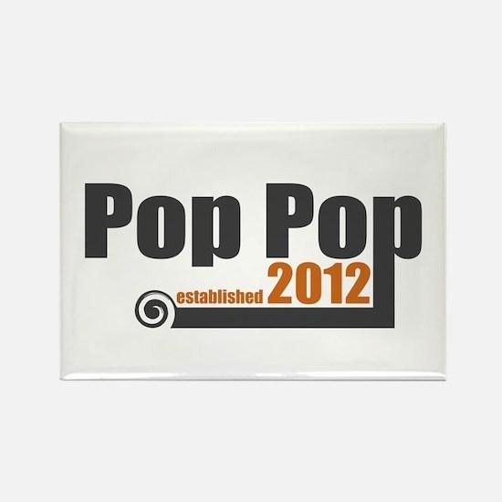 Pop Pop Established 2012 Rectangle Magnet