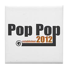 Pop Pop Established 2012 Tile Coaster