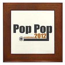 Pop Pop Established 2012 Framed Tile