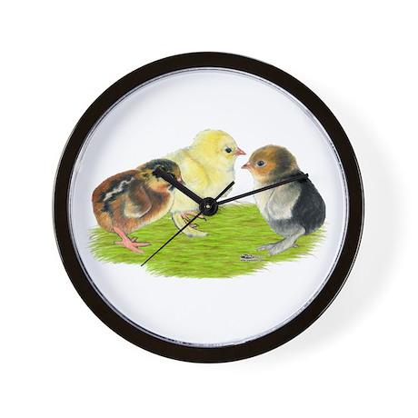 Baby Chicks Trio Wall Clock