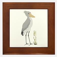Shoebill Stork Framed Tile