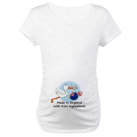 Stork Baby NZ England Maternity T-Shirt