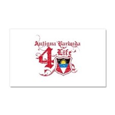 Antigua Barbuda for life designs Car Magnet 20 x 1