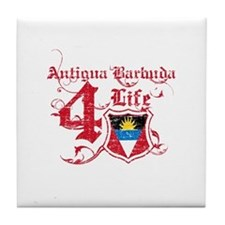 Antigua Barbuda for life designs Tile Coaster