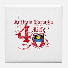 Antigua Barbuda for life designs Tile Coaster