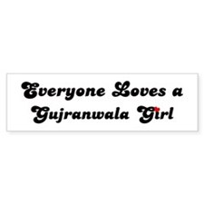 Loves Gujranwala Girl Bumper Bumper Sticker