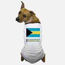 Bahamas Flag Word Dog T-Shirt