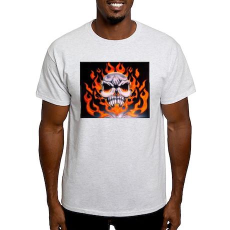 Flaming skull Light T-Shirt