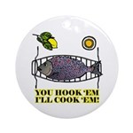 You Hook 'Em Fishing Ornament (Round)