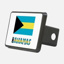 Bahamas Flag Word Hitch Cover