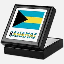 Bahamas Flag Word Keepsake Box