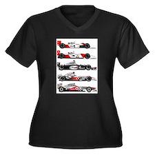 F1 grid.jpg Women's Plus Size V-Neck Dark T-Shirt