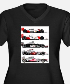 F1 grid.jpg Women's Plus Size V-Neck Dark T-Shirt