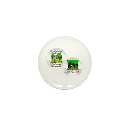 The road less travelled Mini Button (100 pack)