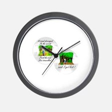 The road less travelled Wall Clock