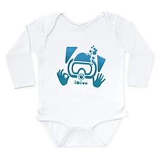 idive ok blue glass.png Long Sleeve Infant Bodysui