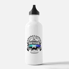 autismunder4.png Water Bottle