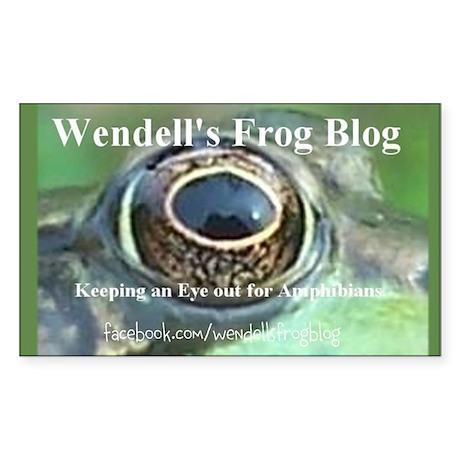 Wendell's Frog Blog Logo Sticker (Rectangle)