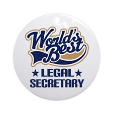 Legal Secretary Gift Ornament (Round)