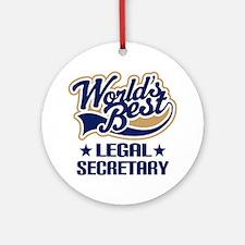 Legal Secretary Gift Ornament (Round)
