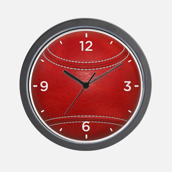 Cricket Ball Wall Clock