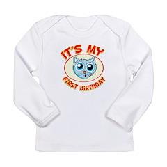 1st Birthday kitty Long Sleeve Infant T-Shirt