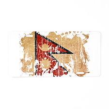 Nepal Flag Aluminum License Plate