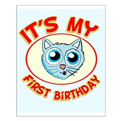 1st Birthday kitty Posters