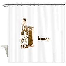 hooray-beer.psd Shower Curtain