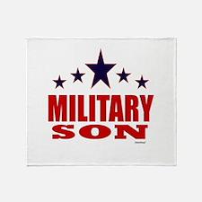 Military Son Throw Blanket