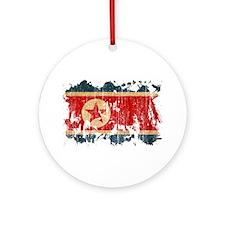 North Korea Flag Ornament (Round)