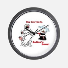 Coffee's Done Wall Clock